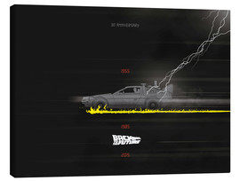 Leinwandbild  30th anniversary Back to the future movie inspired art - Golden Planet Prints