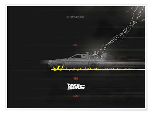Premium-Poster 30th anniversary Back to the future movie inspired art