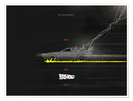 Premium-Poster  Jubiläum, Back to the Future - Golden Planet Prints