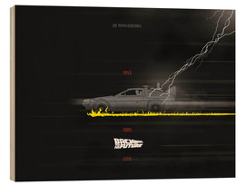 Holzbild  30th anniversary Back to the future movie inspired art - Golden Planet Prints