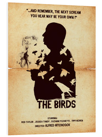 Golden Planet Prints - The birds movie inspired hitchcock silhouette art