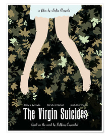 Poster  The virgin suicides movie inspired art - Golden Planet Prints
