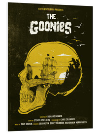 Hartschaumbild  The Goonies movie inspired skull never say die art - Golden Planet Prints