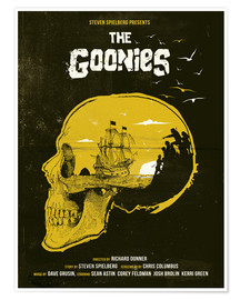 Premium-Poster The Goonies movie inspired skull never say die art