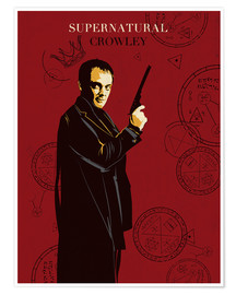 Premium-Poster Crowley supernatural tv serie inspired illustration