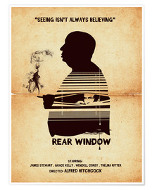 Premium-Poster Rear window movie inspired hitchcock silhouette art