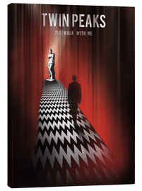 Golden Planet Prints - Twin peaks illustration retro tv serie inspired art