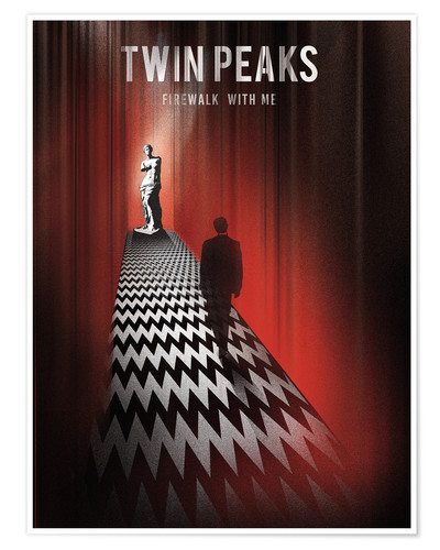 Poster Twin peaks illustration retro tv serie inspired art