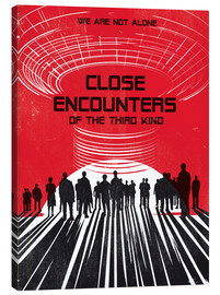 Golden Planet Prints - Close encounters of the third king movie inspired art