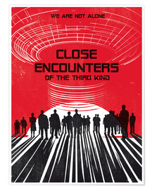 Premium-Poster Close encounters of the third king movie inspired art