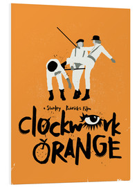 Hartschaumbild  Clockwork Orange - Golden Planet Prints