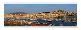 Poster  marseille Panorama - Vincent Xeridat