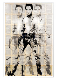 Poster Elvis hinter Andy