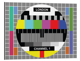 Alu-Dibond  London-TV-Kanal 1 - Jaysanstudio