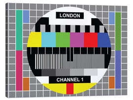 Leinwandbild  London-TV-Kanal 1 - Jaysanstudio