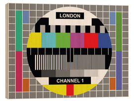 Holzbild  London-TV-Kanal 1 - Jaysanstudio