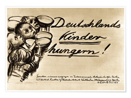 Premium-Poster Deutschlands Kinder hungern