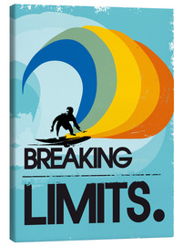Leinwandbild  Retro Surfer Design breaking limits art - 2ToastDesign