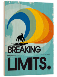 Holzbild  Retro Surfer Design breaking limits art - 2ToastDesign