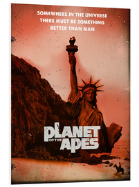 Hartschaumbild  Planet of the Apes (Englisch) - 2ToastDesign