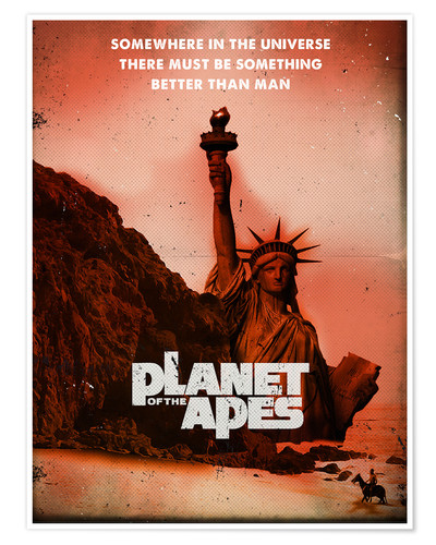 Poster Planet of the Apes retro style movie inspired