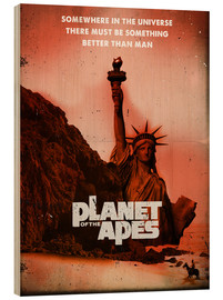 Holzbild  Planet of the Apes (Englisch) - 2ToastDesign