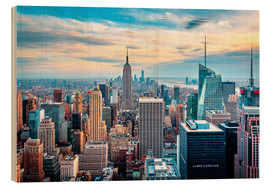 Holzbild  NEW YORK - TOP OF THE ROCK - Sascha Kilmer