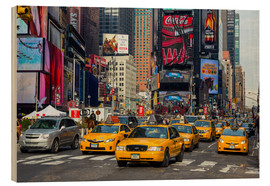Holzbild  New York City Traffic - Thomas Klinder