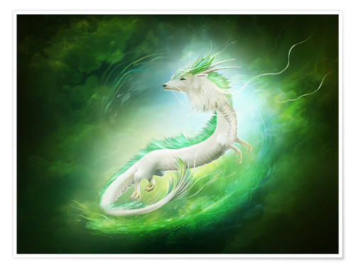 Premium-Poster White dragon