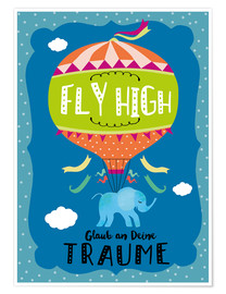 Premium-Poster Fligh High