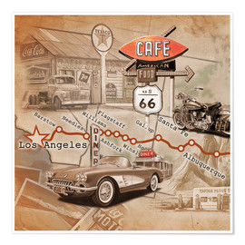Poster  Route 66 Road Trip - Georg Huber