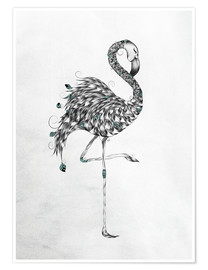 Premium-Poster Poetic Flamingo