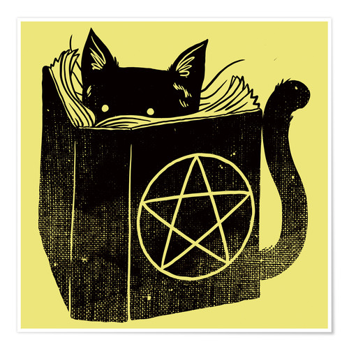 Premium-Poster Witchcraft Cat