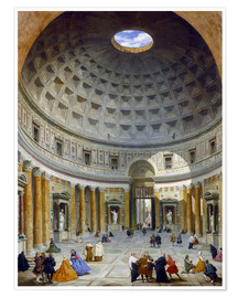 Poster  Innere des Pantheon - Giovanni Paolo Pannini