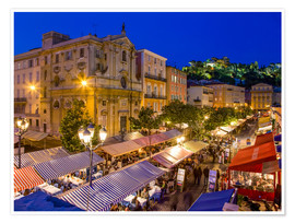 Premium-Poster Cours Saleya in Nizza