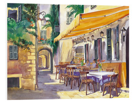 Hartschaumbild  Café in der Provence - Paul Simmons
