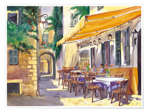 Premium-Poster Cafe Provence