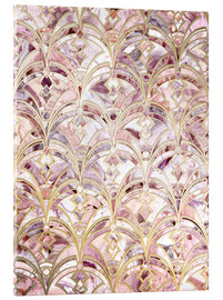 Acrylglas  Dusty Rose und Coral Art Deco Marmorierung Muster - Micklyn Le Feuvre