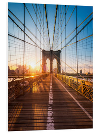 Forex  Brooklyn Bridge im Sonnenlicht in New York City, USA - Jan Christopher Becke