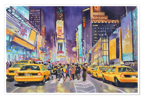 Premium-Poster Times Square bei Nacht