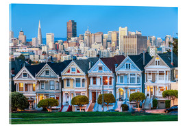 Acrylglasbild  Painted Ladies, San Francisco