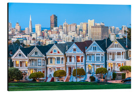 Alubild  Painted Ladies, San Francisco