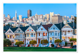 Premium-Poster  Painted Ladies, San Francisco