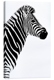 Leinwandbild  Safari Profil Collection - Zebra White Edition III - Philippe HUGONNARD