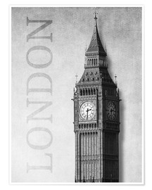 Premium-Poster  London - Big Ben - Alex Saberi