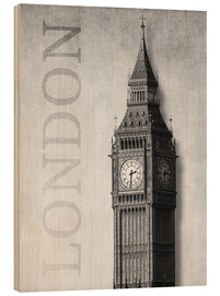 Holzbild  London - Big Ben - Alex Saberi
