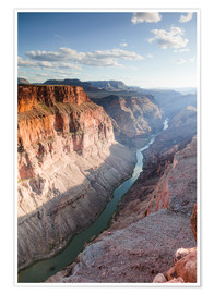 Premium-Poster Landschaft: Sonnenuntergang über Colorado River, Grand Canyon, USA