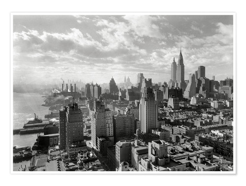Premium-Poster New York Skyline 1930