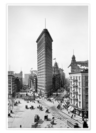 Premium-Poster New York City 1920, Flatiron Building
