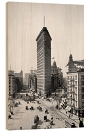Holzbild  New York City 1920, Flatiron Building - Sascha Kilmer